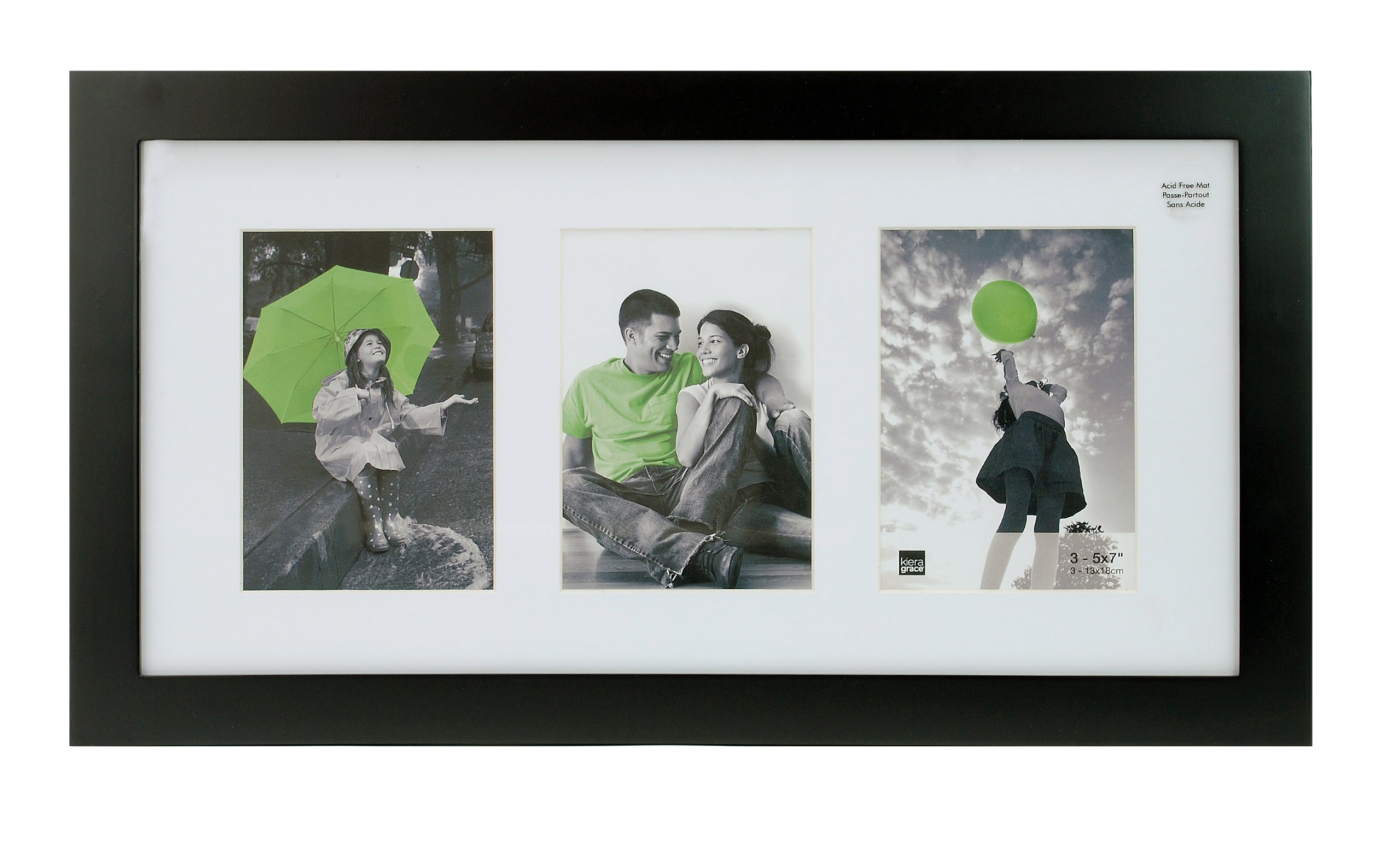 kieragrace Langford Wood Collage Picture Frame, 10 by 20-Inch Matted for 3-5 by 7-Inch Photos, Black by kieragrace (Image #1)