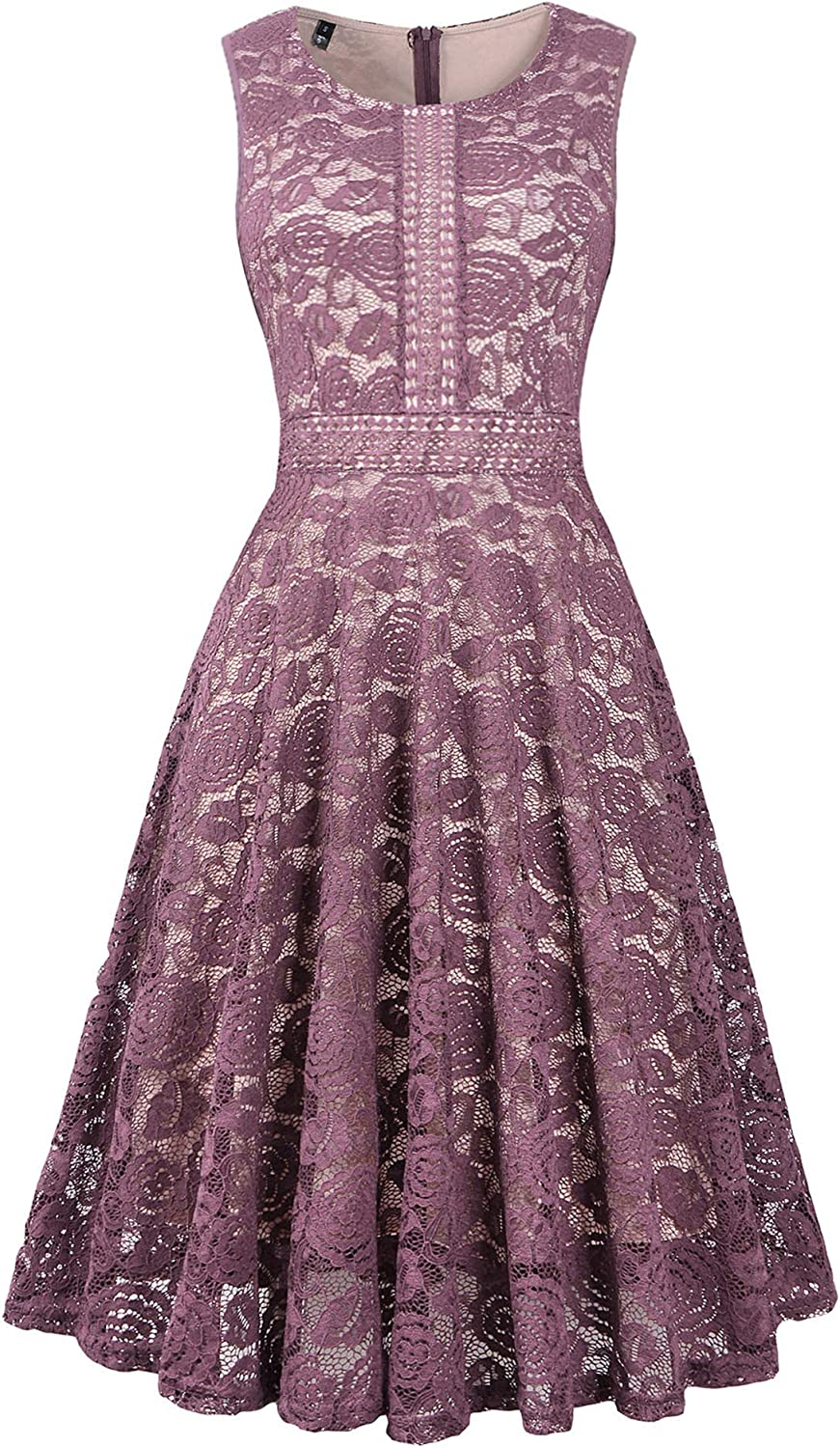 Women's Wedding Dress Lace Bridesmaid Prom Vintage Cocktail Church Dresses Cocktail Party Swing Dresses