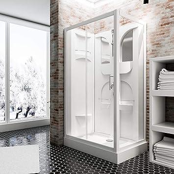 Schulte EP19195 Cabina de ducha completa, Blanco, 120 x 80 cm: Amazon.es: Bricolaje y herramientas