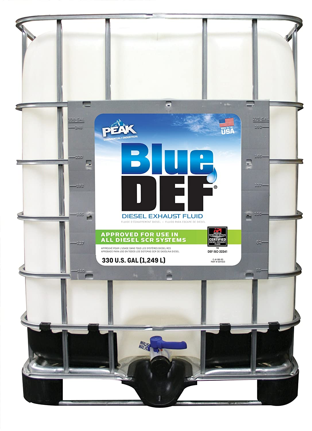 Amazoncom BlueDEF DEF330 Diesel Exhaust Fluid 330 Gallon Tote
