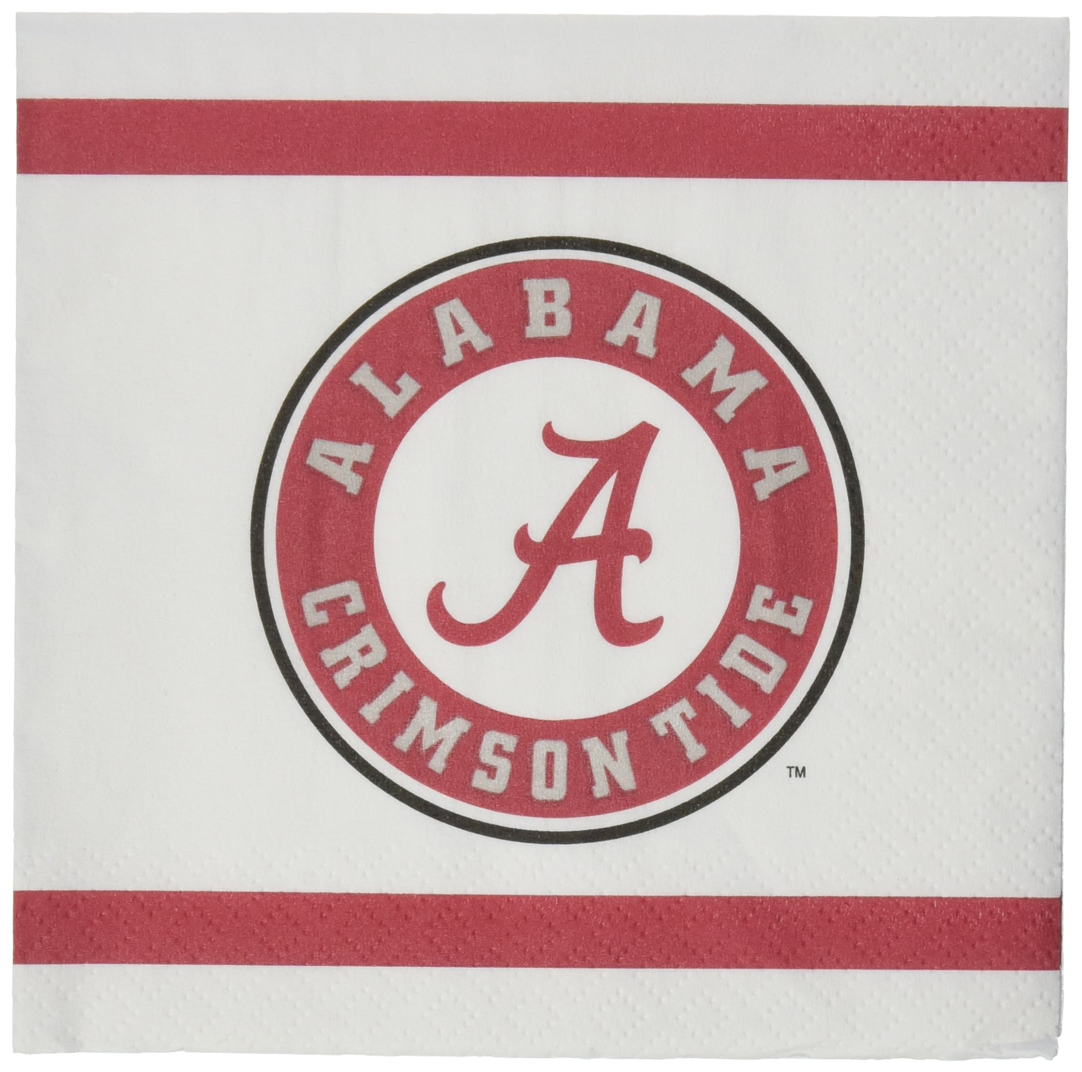 Mayflower Distributing Company 24Count University of Alabama Beverage Napkin, Multicolor by Mayflower Distributing Company