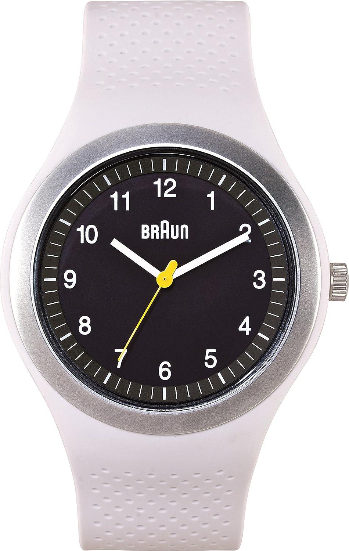 Braun BN0111BKLGYG - Reloj analógico de Cuarzo Unisex con Correa de Silicona