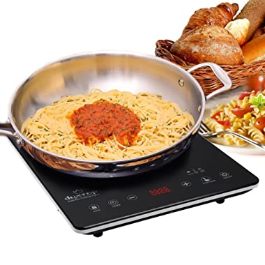 Secura DUXTOP UltraThin Full Glass Top Portable Sensor Touch Induction Cooktop Countertop Burner, Black, 14.5  x 11.5  x 1.75