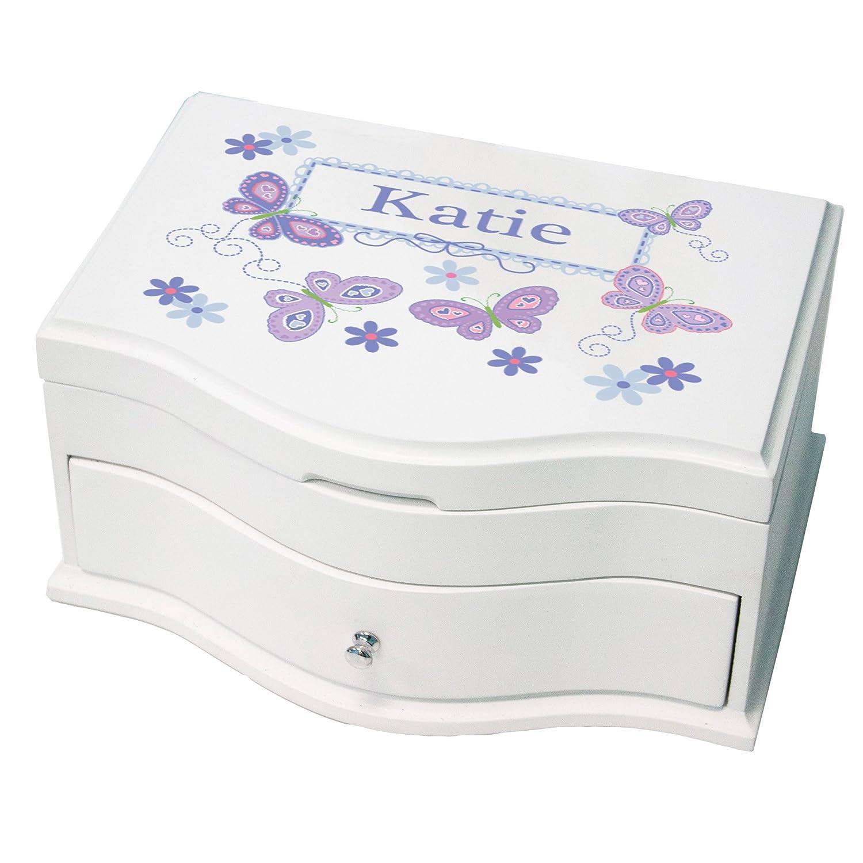 【お買い得!】 PersonalizedデラックスMusical Box Jewelry Jewelry B074L8KMHC Box withラベンダー蝶のデザイン B074L8KMHC, オゴオリシ:c297e34d --- arcego.dominiotemporario.com
