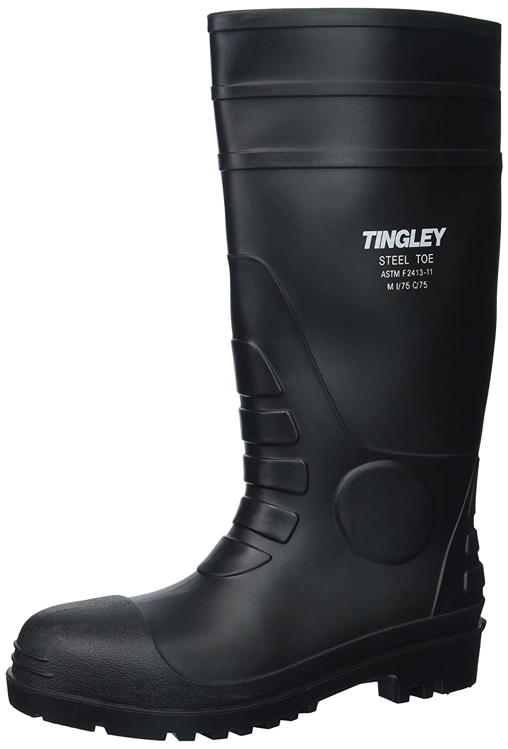 Tingley 31251.10 Pilot 15-in Cleated Steel Toe Knee Boot, Size 10, Black
