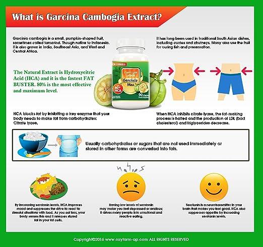 Amazon.com: Garcinia MAX 100% Pure Garcinia Cambogia 7500mg 80% HCA, Extra Strength. Natural Appetite Suppressant, Carb Block, Caffeine-free, NEW Formula, ...