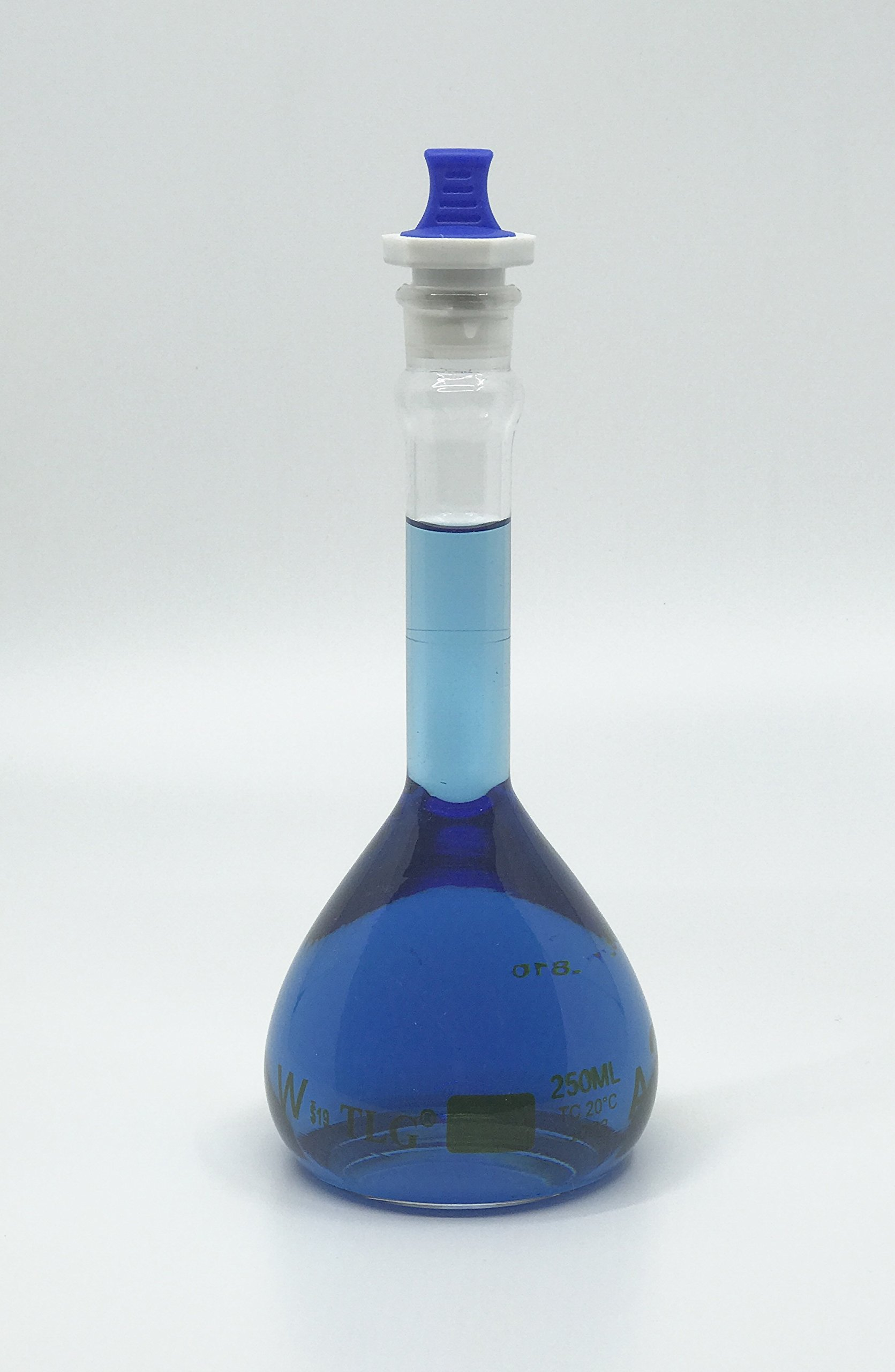 CHEM SCIENCE INC 129.503.07 Volumetric Flask, Serialized and Certified with One Graduation Mark Class A, Wide Mouth, Capacity 250 mL with Pp Stopper Size # 19