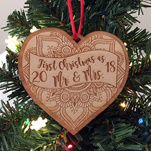 1st christmas as mr mrs 2018 newlywed christmas ornament