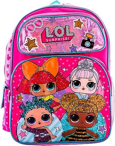 L.O.L Surprise Backpack Book Bag Travel Bag Kindergarten Elementary 4 Dolls 16 Carry Bag