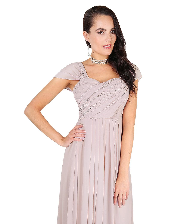 KRISP® Damen Elegante Maxi Kleider Bodenlange Festkleider: Amazon.de ...