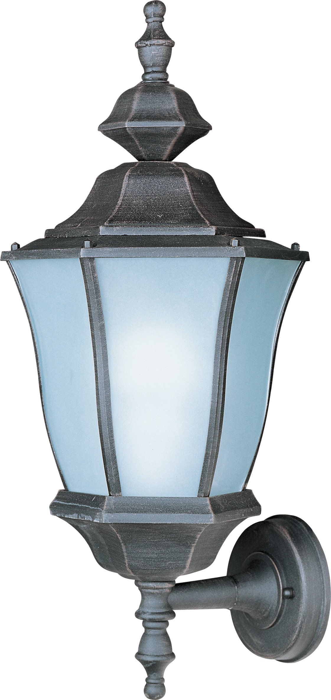 Maxim 85044RP Madrona EE 1-Light Outdoor Wall Lantern, Rust Patina Finish, Glass, GU24 Fluorescent Bulb , 40W Max., Wet Safety Rating, Standard Dimmable, Glass Shade Material, 1152 Rated Lumens