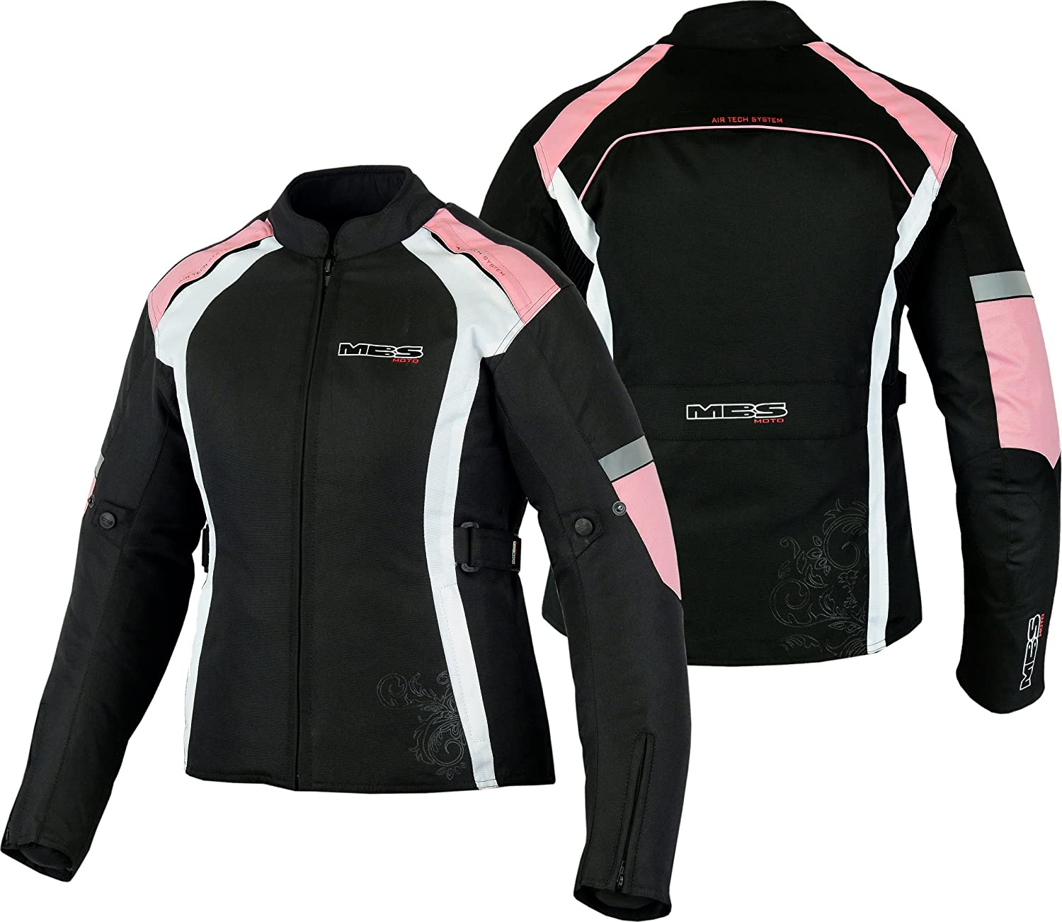 MBSmoto LADYS TEXTILE WATERPROOF 600D JACKET Baby Pink Small//10
