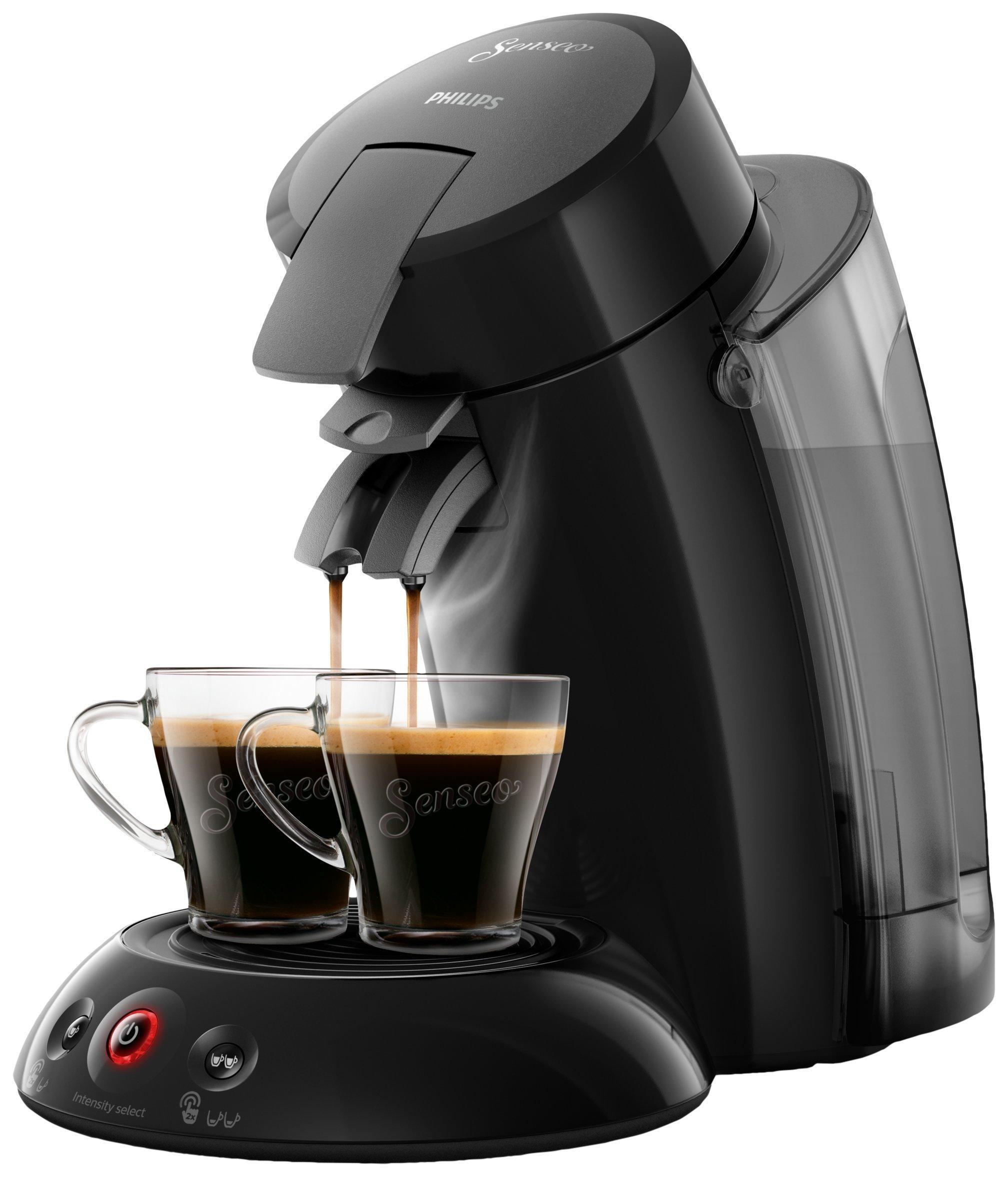 Philips Senseo Original XL HD6555/22 Cafetera Monodosis con Tecnología Coffee Boost, Negro,