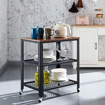 Amazon.com: VINEXT Carrito de cocina de 3 niveles, carrito ...