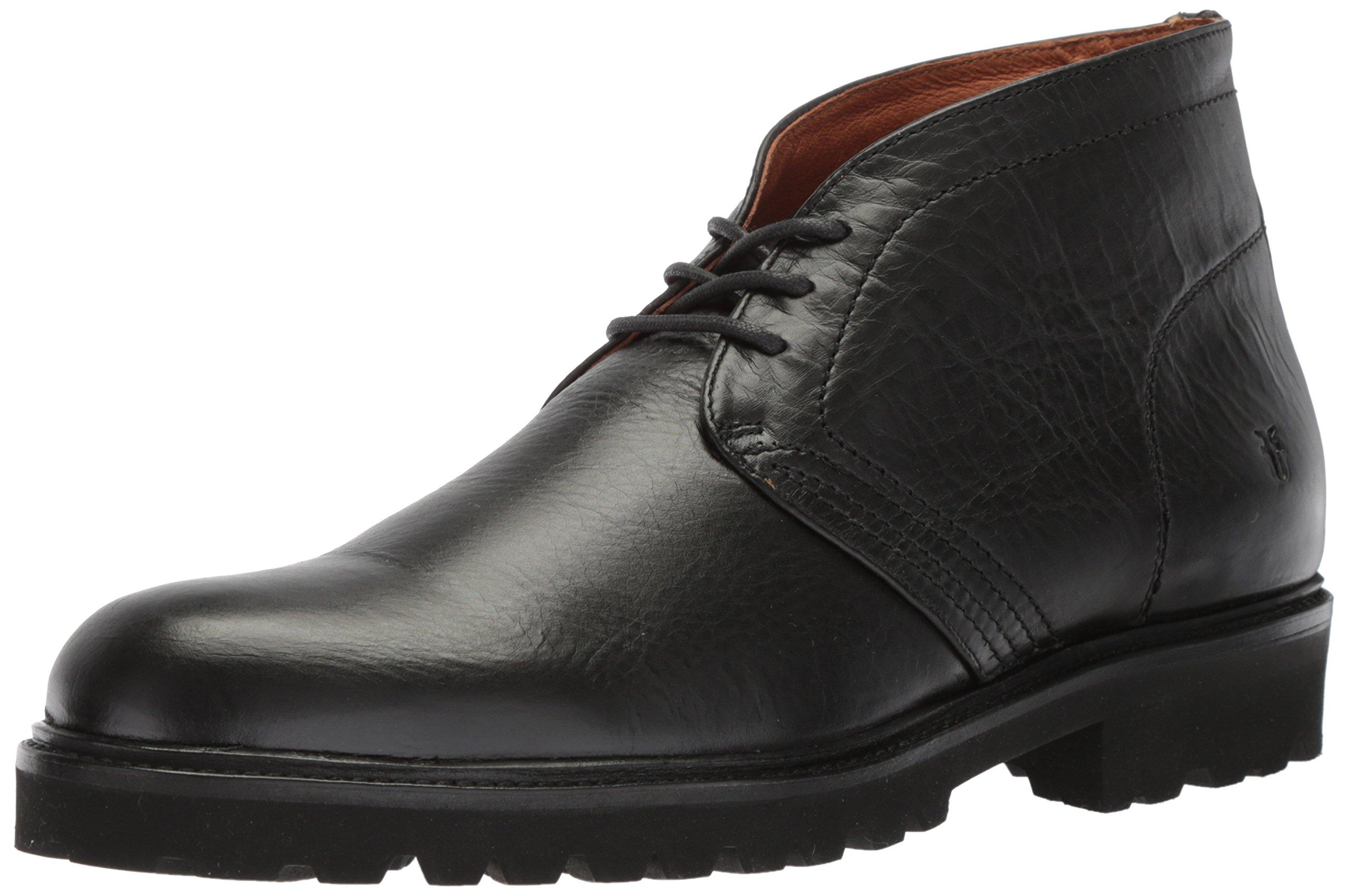 FRYE Men's Edwin Chukka Boot, Black, 11 D US