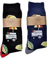 Fine Fit Mens Novelty Print Trouser Socks 2 Pair Set