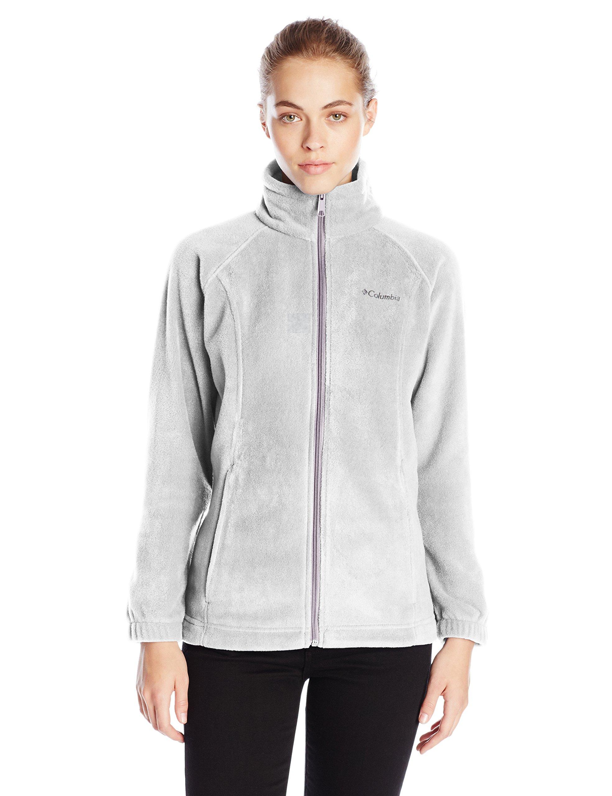 Columbia Women's Benton Springs Classic Fit Full Zip Soft Fleece Jacket, light grey heather, S