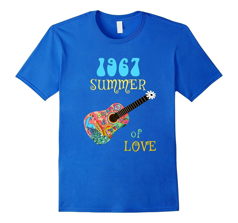 1967 Summer of Love Hippie Peacock Guitar T-shirt-CD