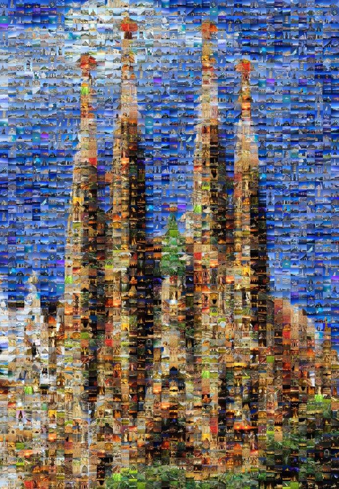 1000 micro mosaic piece Sakurada Familia M81-515 (japan import)