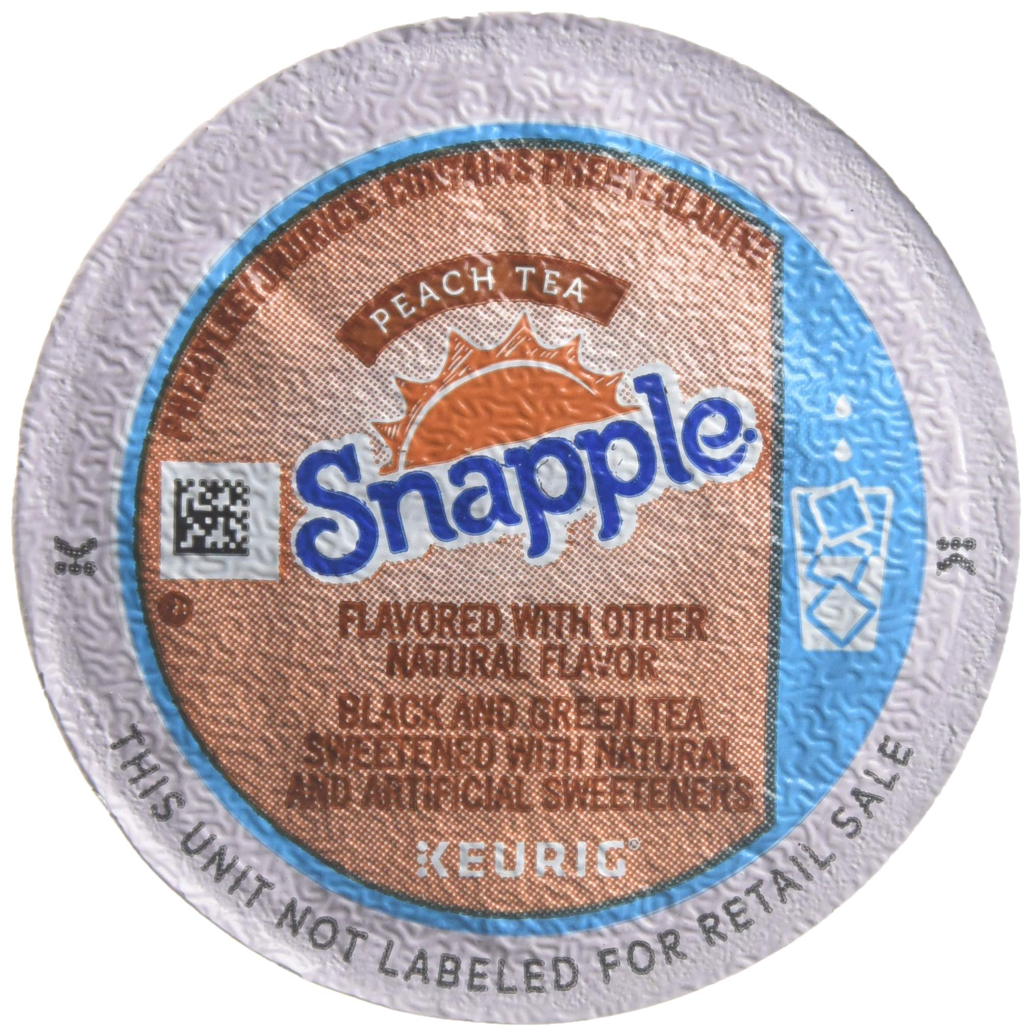 Snapple Peach Iced Tea K-Cups,Peach,22-Count/pack,2 pack