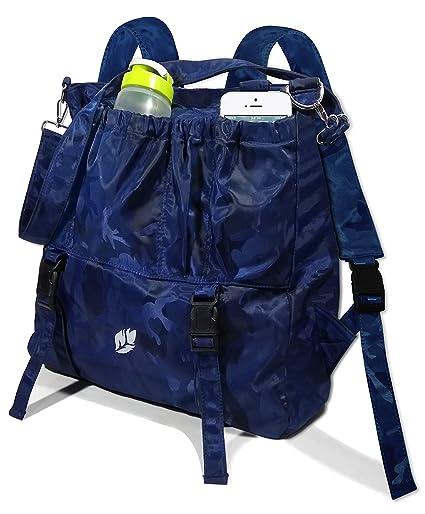 0977380f38a7 Amazon.com  3 Shades of Blue Multi-Purpose Large Yoga Bag