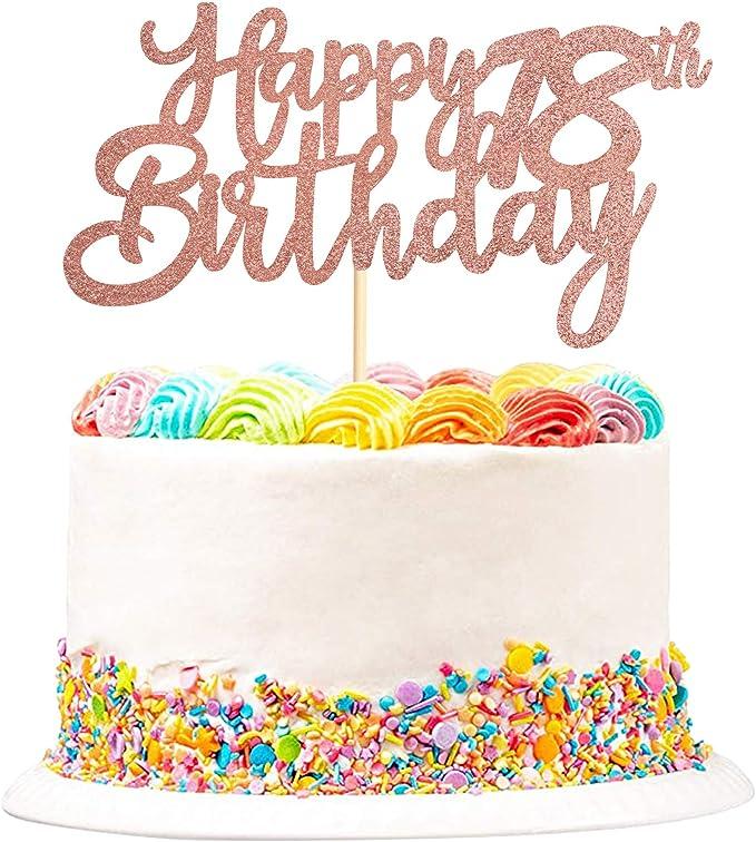 18th Happy Birthday Cake Topper - 18th Birthday Gift