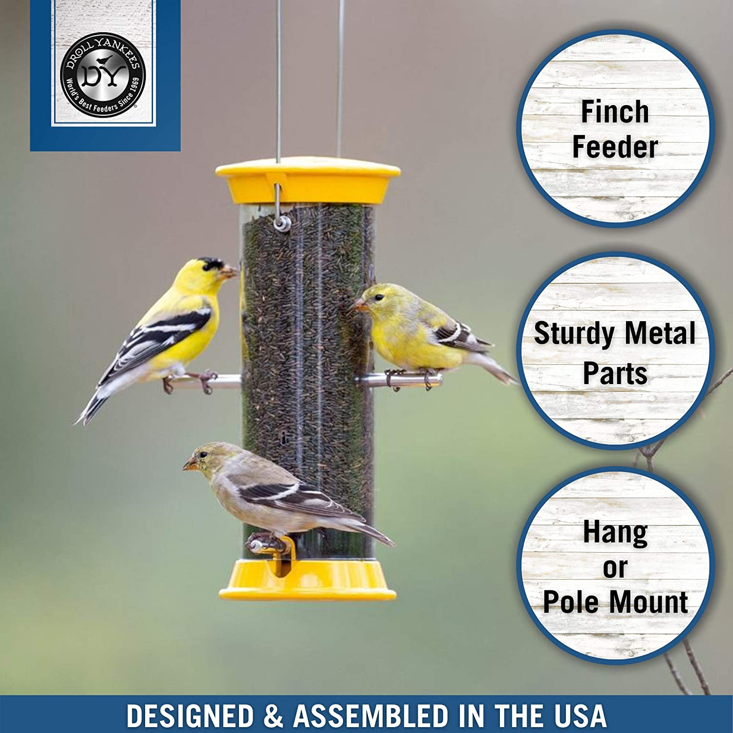 Easy to Clean Approximately 7 Pounds Capacity Finch Feeder Simple to Use