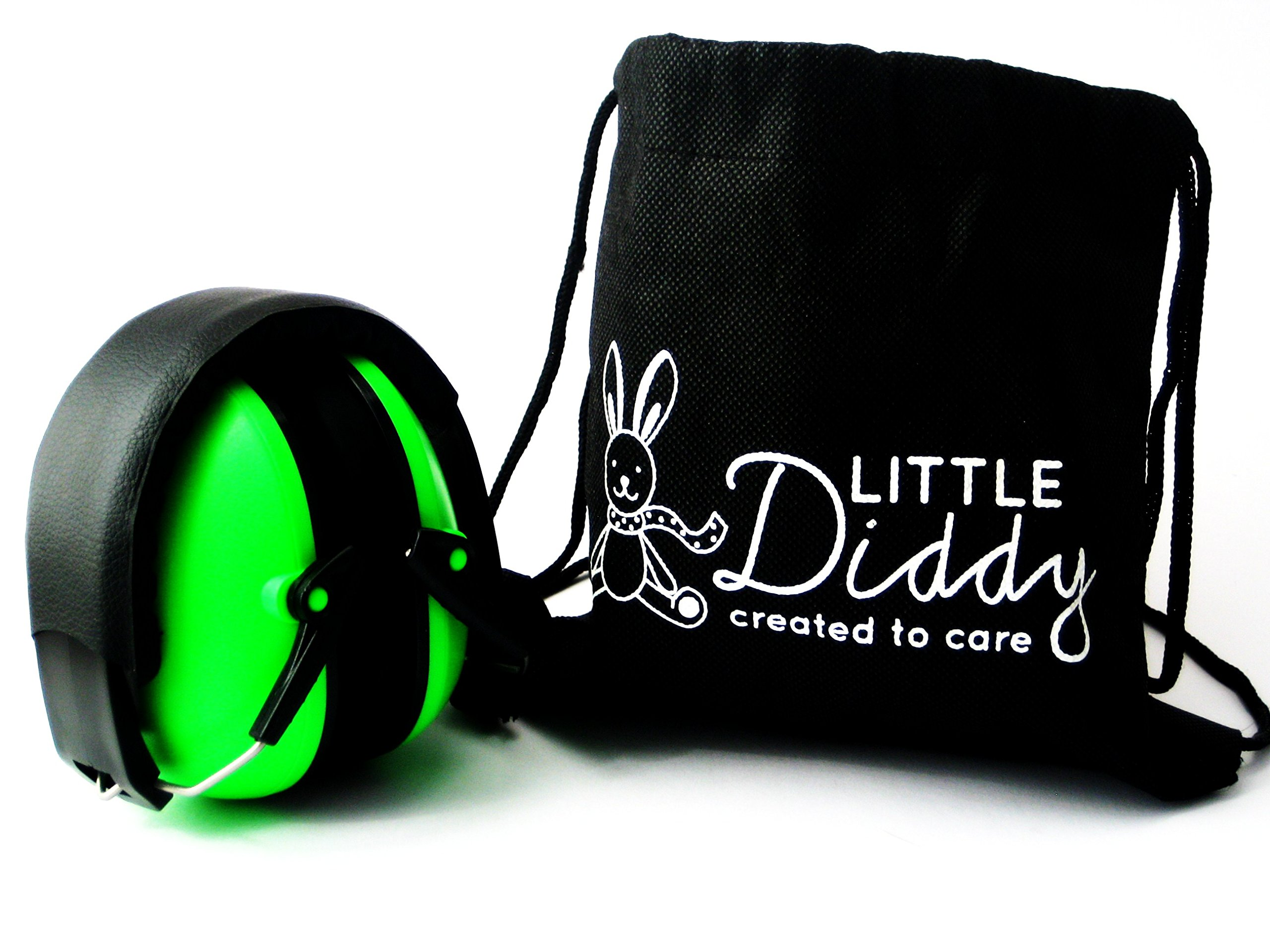 Kids Ear Defenders, Childrens Ear Muffs by Little Diddy. Extremely Comfortable, Adjustable & Safety Approved to Protect Hearing, Keep your Child Calm. Comes with Carry Bag & Choice of Colours