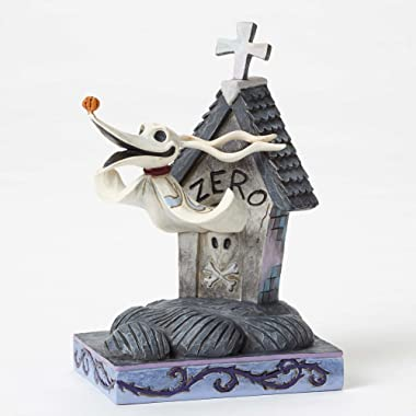 "Disney Traditions by Jim Shore ""The Nightmare Before Christmas"" Zero Stone Resin Figurine, 5"""