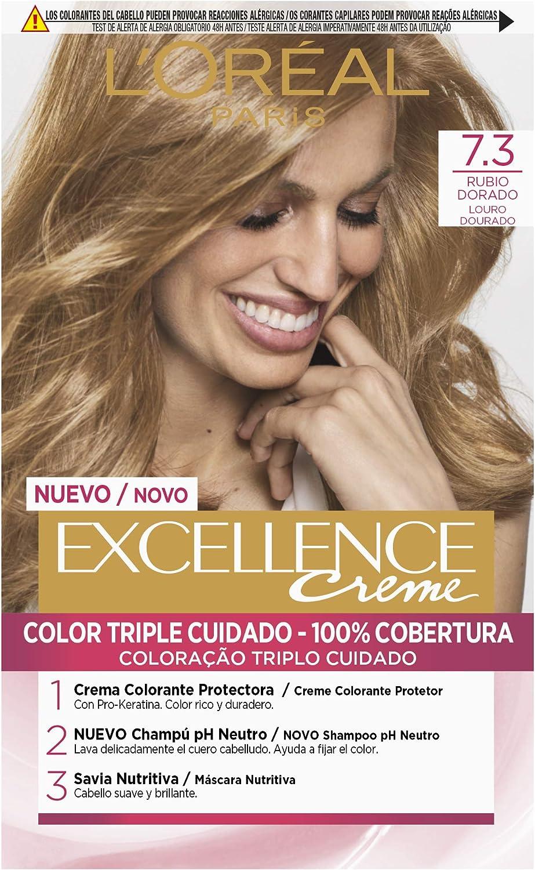LOreal Paris Excellence Creme Tinte Permanente Tono 7.3 ...