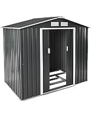 TecTake Cobertizo caseta de jardín metálica de Metal Invernadero almacén | + fundación Modelos