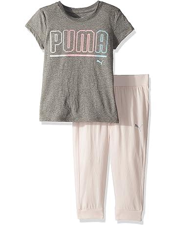 6c4da95e PUMA Girls' 2 Piece Tee & Capri Joggers Set