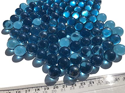 Crystal King Blue Glass Marbles Clear 16 Mm Diameter 500gr