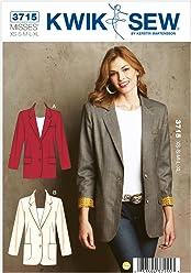 Kwik-Sew K3715 - Cartamodello per giacche da donna 45f3b9426cc5