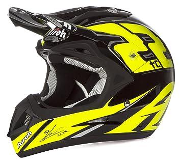 Airoh Jumper Casco para motociclista, color Negro/Amarillo, talla 58-M