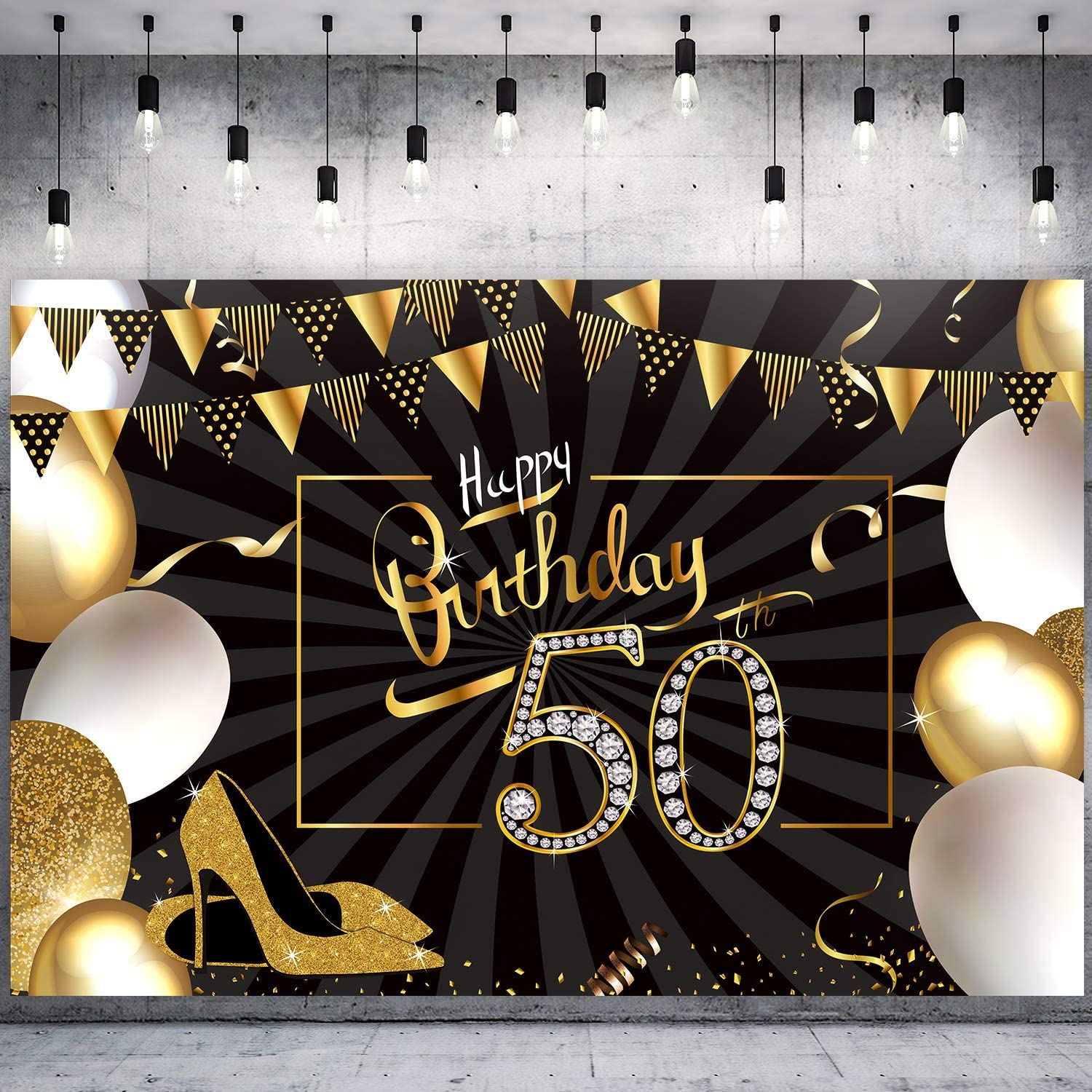Birthday Celebration, Balloon, Birthday , Qualatex, Gold, Party, Jubileum, 50th  Birthday transparent background PNG clipart | HiClipart