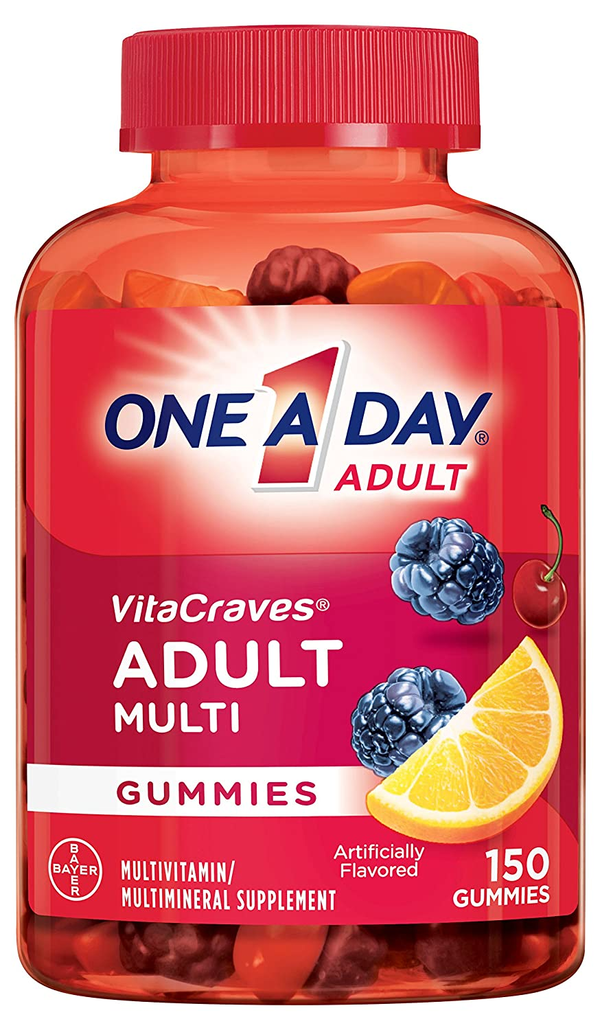 One A Day VitaCraves Adult Multivitamin Gummies, 150 Count BY-281