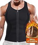BRABIC Hot Sauna Sweat Suits,Zipper Closure Tank