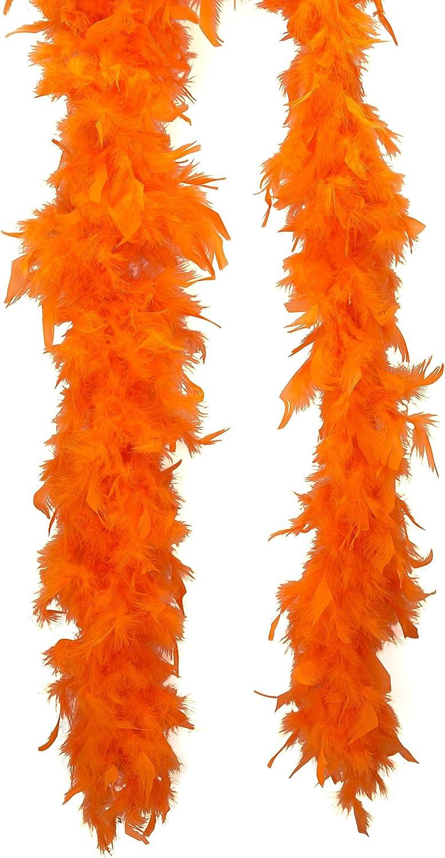Unbekannt Federboa Kost/üm-Accessoire orange