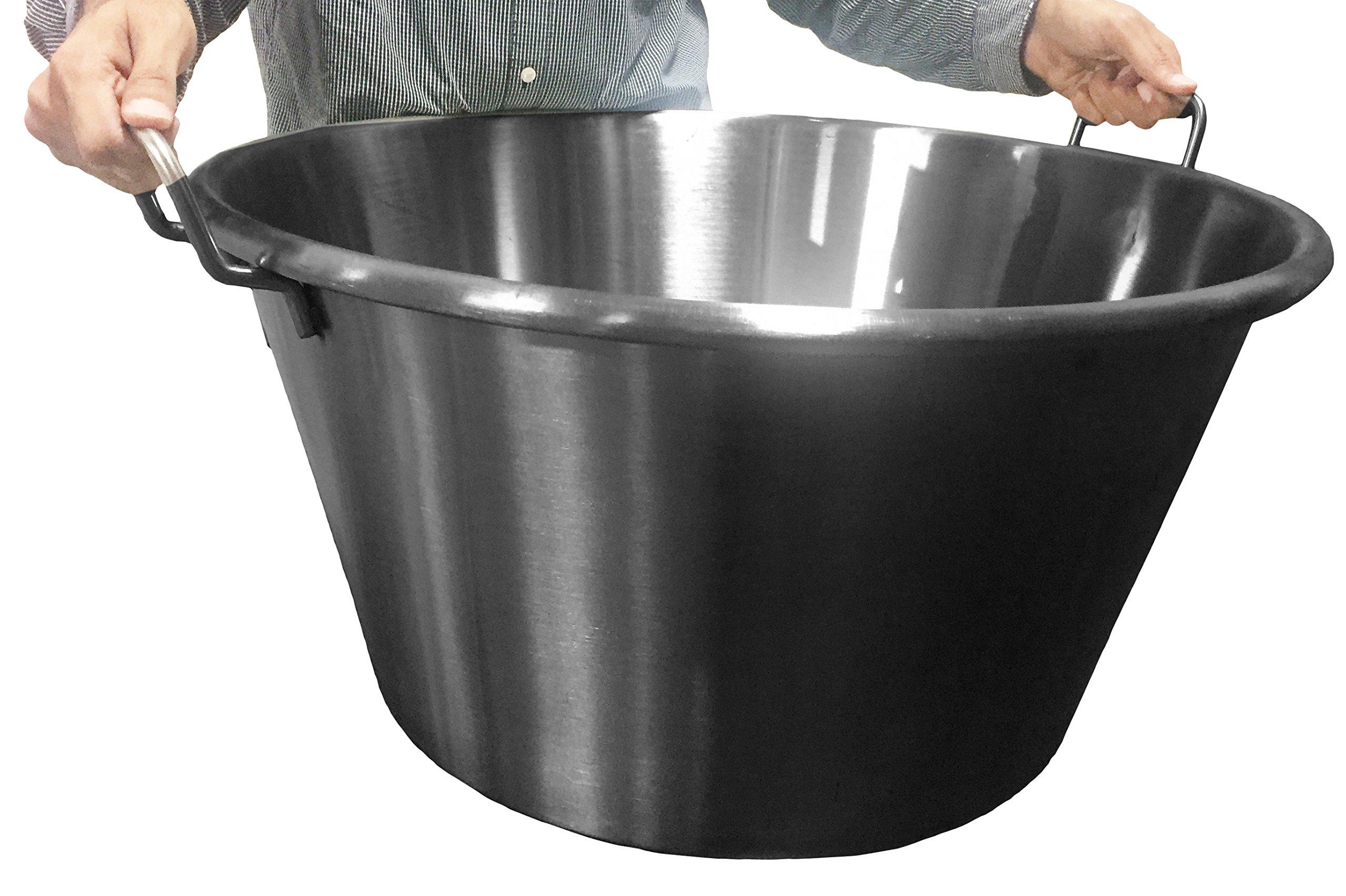 Bioexcel XXL Stainless Steel Wok - 16'', 20'' & 24'' - Cazos Para Carnitas - Heavy Duty Stainless Steel Cooking Wok - This One is (Diameter 24'' / Depth 14'')