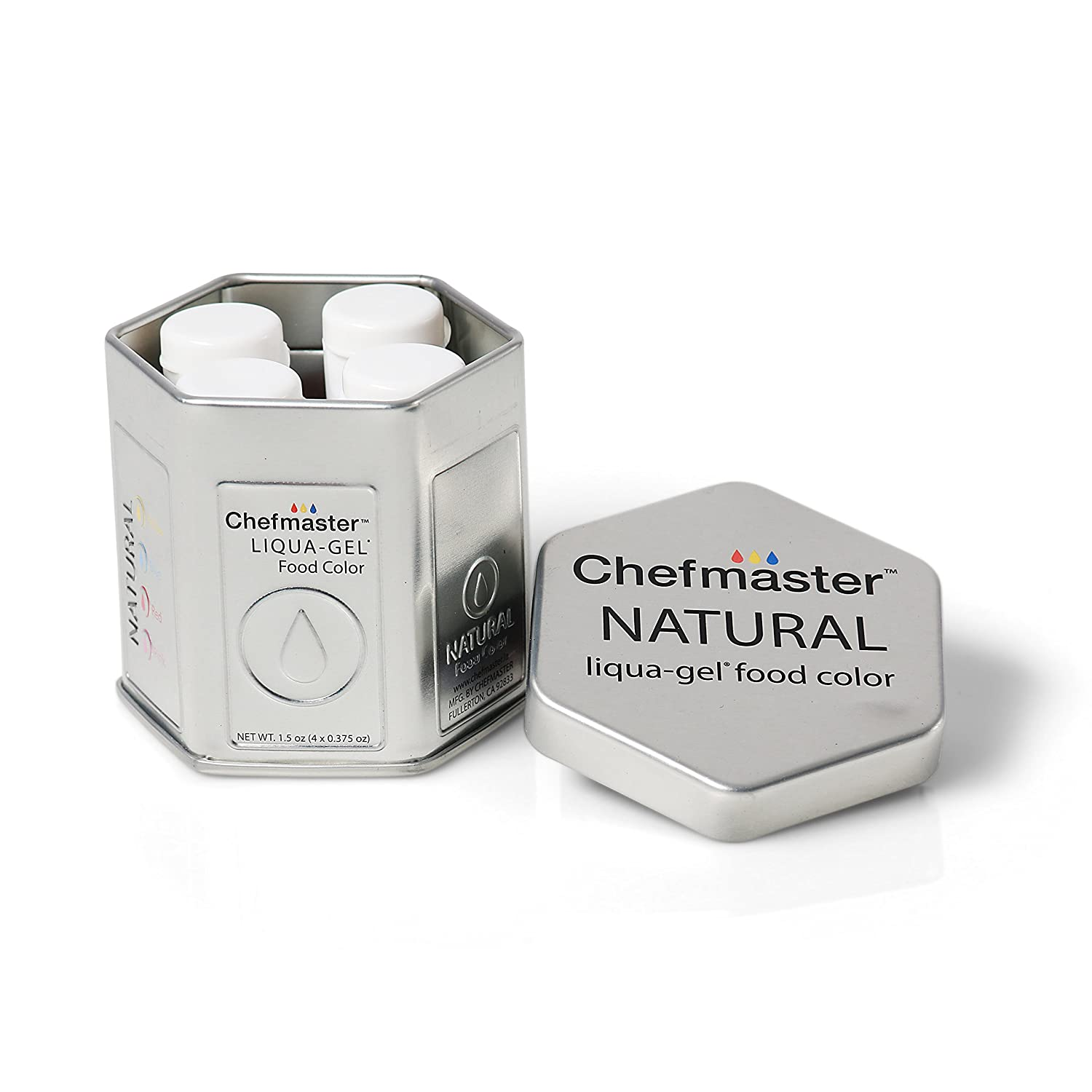 Chefmaster All Natural Food Coloring, Vegan-Friendly Dye for Baking ...