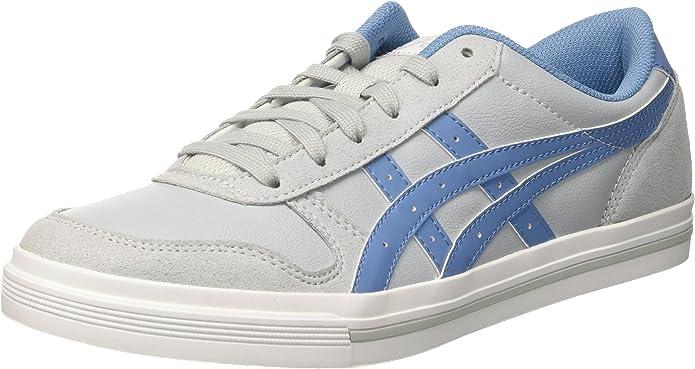ASICS Aaron Sneakers Damen Herren Unisex Grau/Himmelblau Größe 36-49