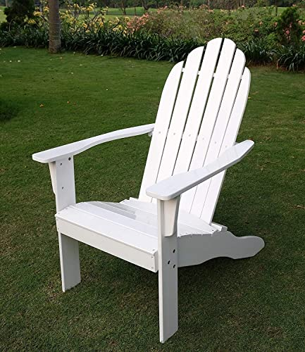 Cambridge-Casual Solid Wood Bentley Adirondack Chair, Brilliant White