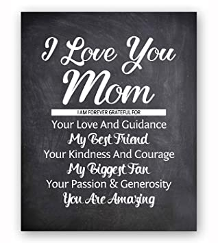 Amazon.com: Mom Quote Chalkboard Wall Art Print Plaque, Perfect ...