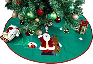 Green Christmas Tree Skirt - 36