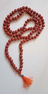 Gita Press Books Wooden Rudraksh Mala 108+1 Beads, 5 mm, Brown