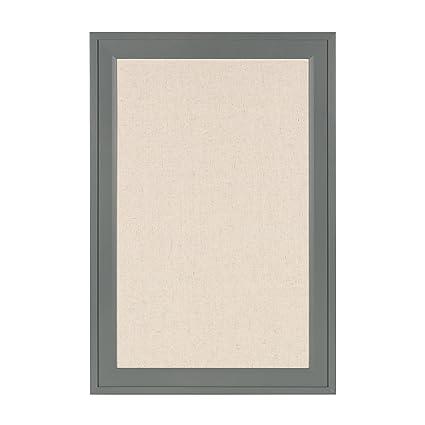 Amazon.com : DesignOvation Bosc Framed Linen Fabric Pinboard, 18.5 ...