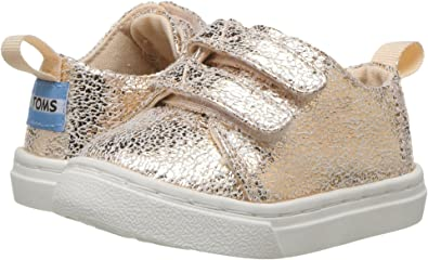 0bb2407048ad3 TOMS Kids Baby Girl's Lenny (Infant/Toddler/Little Kid) Rose Gold Crackle  Foil 5 Toddler M