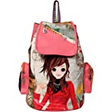 M A K Women'S Leather Messenger Backpack Bag