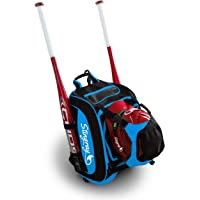 Stingray Large Capacity Baseball or Softball Backpack   Helmet Holder and Fence Hook   for Adults, Youth, Boys, and…
